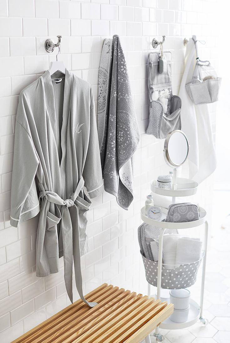 Streamline your morning routine with shower caddies, and our ultra-soft towels and robes! Click to select your favorite colors.Â