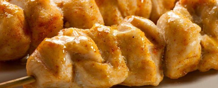 Honing mosterd kipspiesjes