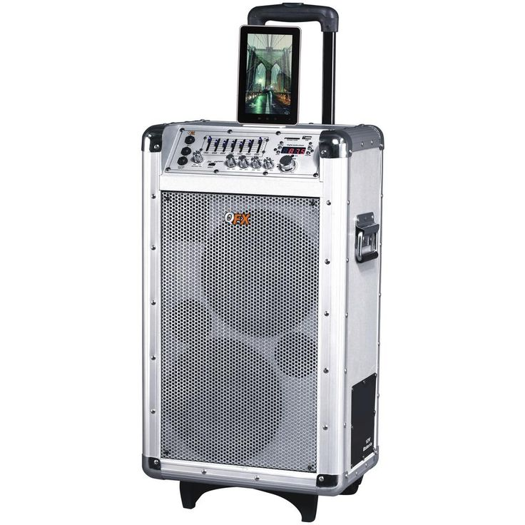Battery Powered PA Speaker, Silver