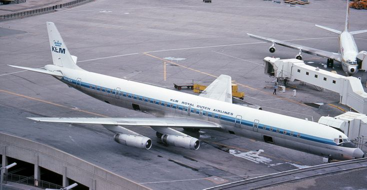 klm royal dutch airlines douglas dc8 jet