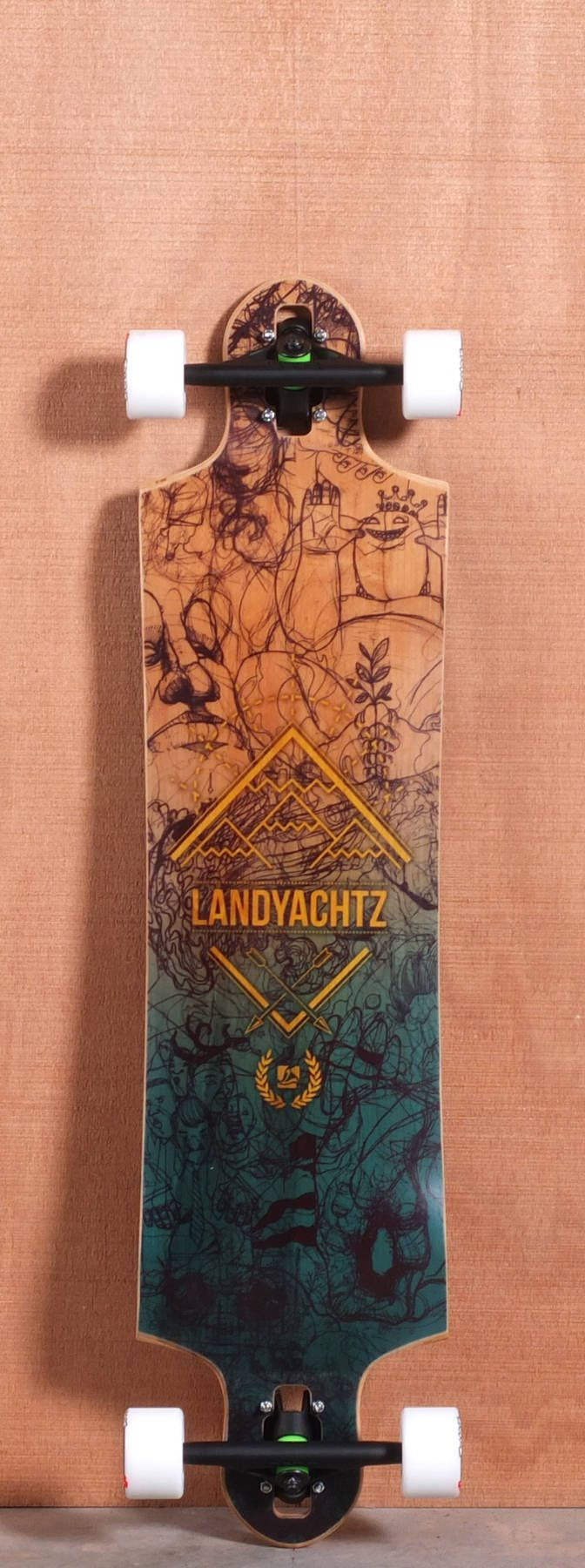 """THIS BOARD IS SO DOPE   Landyachtz 40"""" Switchblade Longboard Complete"""