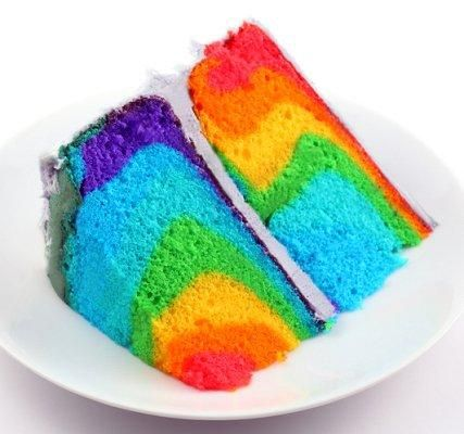 Rainbow cake - doesn't look real!