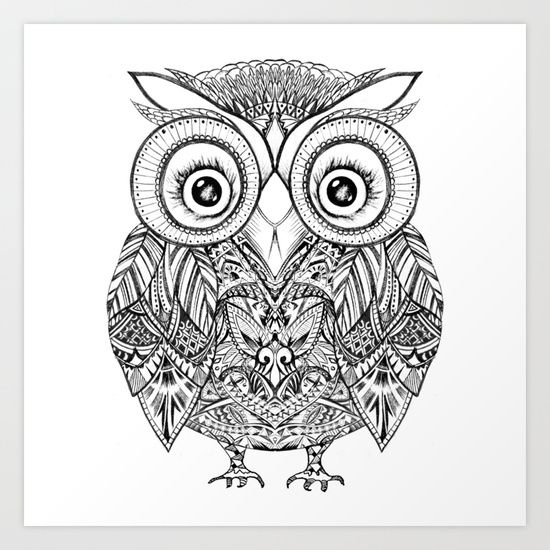 aztec owl coloring pages - photo#2