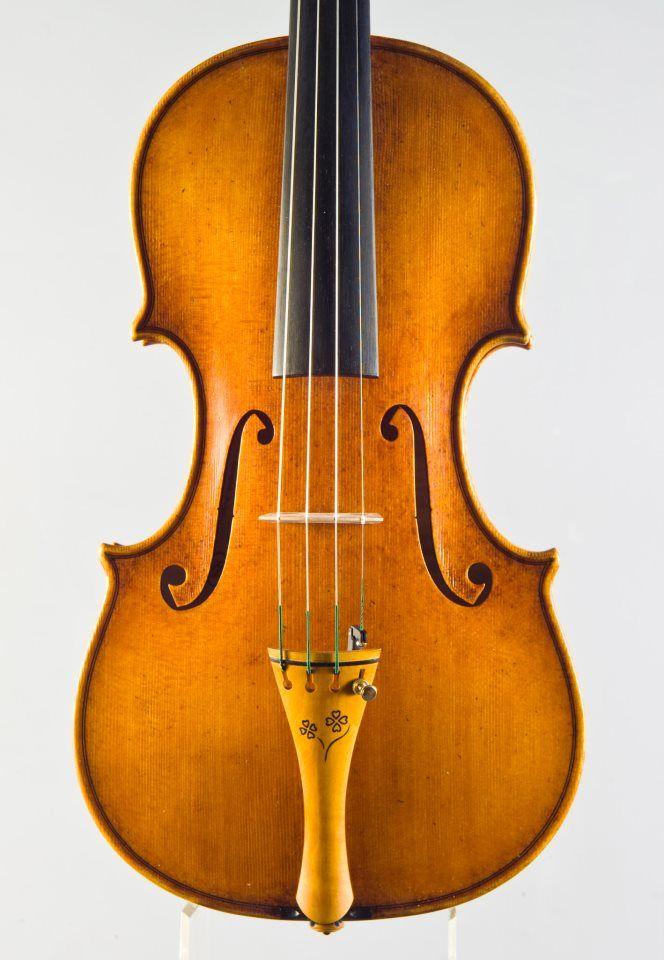 A new violin by violinmaker Rumen Spirov 2013 year - SOLD - model - OLE BUL -Guarneri del Gesu 1744- PEGS AND TAILPIECE - with intarsia design handmade by Rumen Spirov -violinmaker from Bulgaria