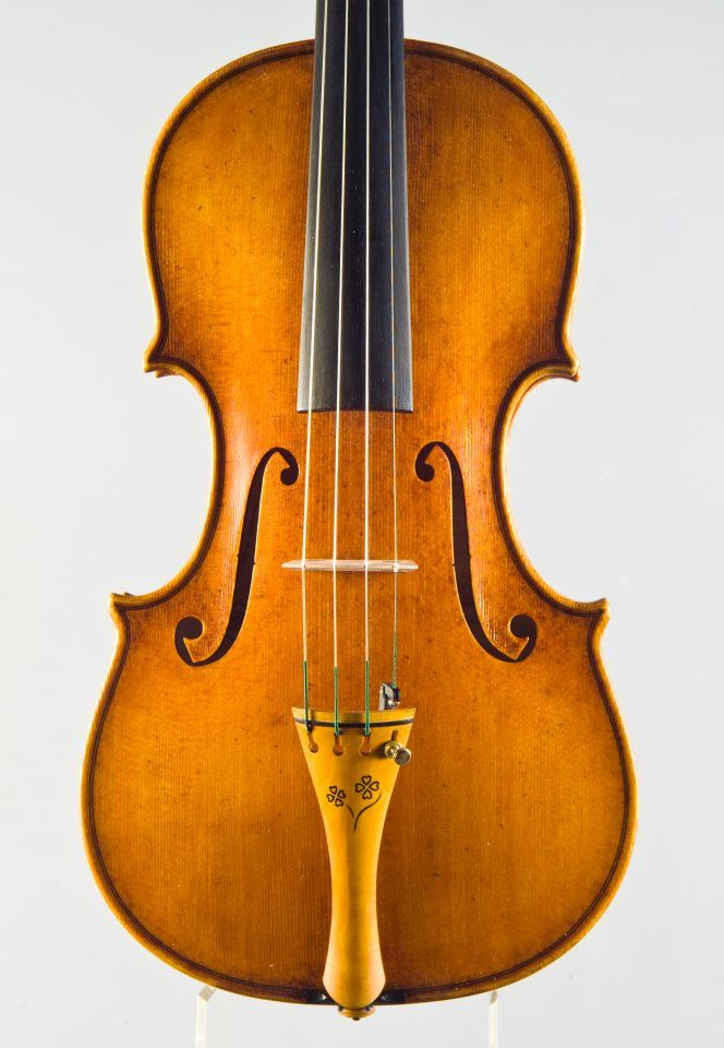 A new violin by violinmaker Rumen Spirov 2013 year - SOLD - model - OLE BUL -Guarneri del Gesu 1744- PEGS AND TAILPIECE - with intarsia design handmade by Rumen Spirov -violinmaker from Bulgaria