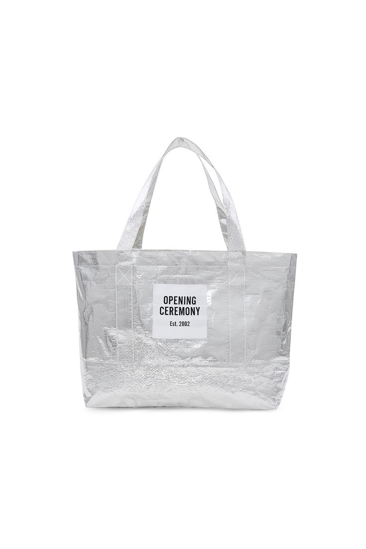 Opening Ceremony, Small Metallic Silver Tote Bag OC's ...