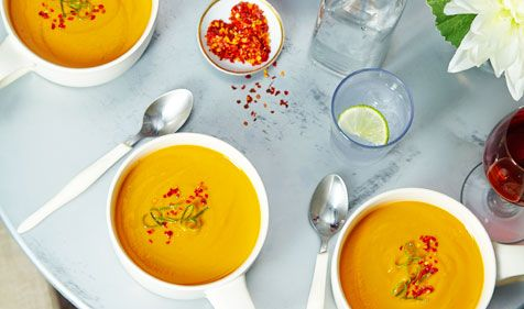 Sweet Potato Soup with Ginger and Vanilla