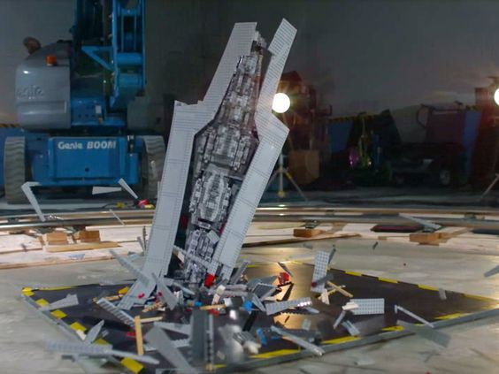 Watch a Giant Lego Star Destroyer Get Smashed to Bits