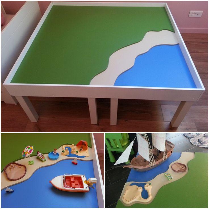 Manualidades con playmobil mesa de juego playmobil - Table de jeu playmobil ...