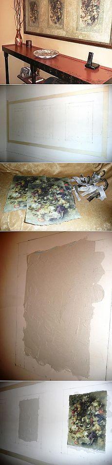 Имитация фрески.