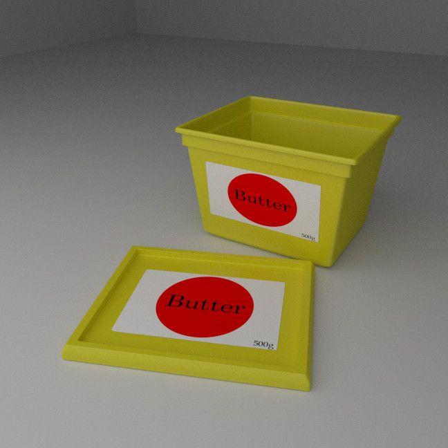 3D Butter Model