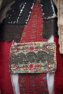 Detail - Torockó in Hungarian bride costume, Torda 19th century - Transylvania