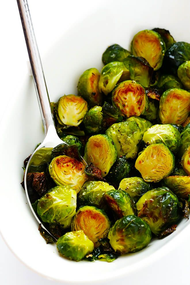 Learn how to make perfectly roasted Brussels sprouts with this classic recipe.  They're quick and easy to make, and always so delicious! Raise your hand if you love roasted Brussels sprouts!!! ? ? ? I think it's safe to say that these cute little sprouts may be the most-cooked vegetable in my kitchen.  (<– Or actually make that, …