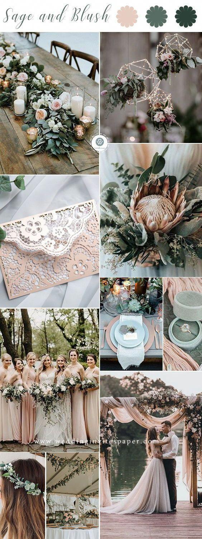 Sage green and blush fall wedding color ideas, wedding invitations laser cut, cu…
