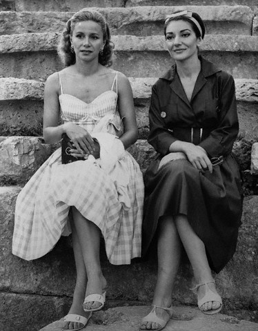 Athina Onassis and Maria Callas