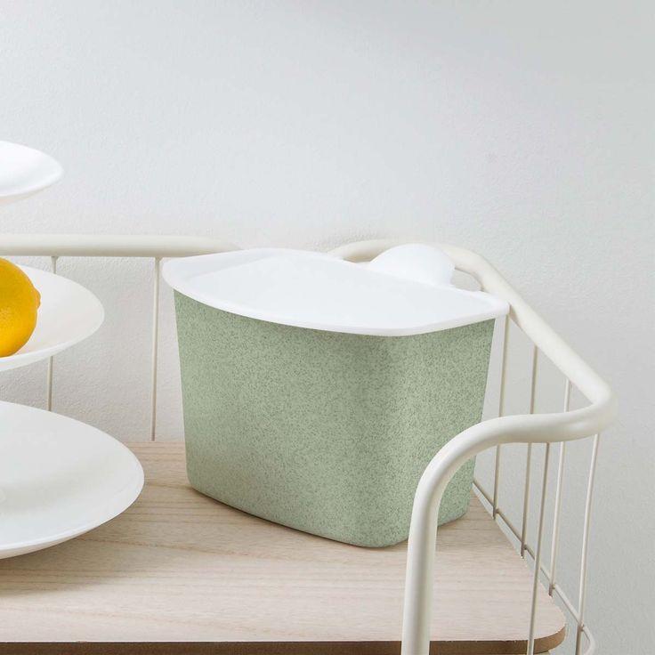 Poubelle compost de cuisine en mati re cologique avec - Poubelle chambre bebe ...