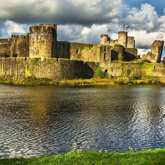 Caerphilly Castle Walls