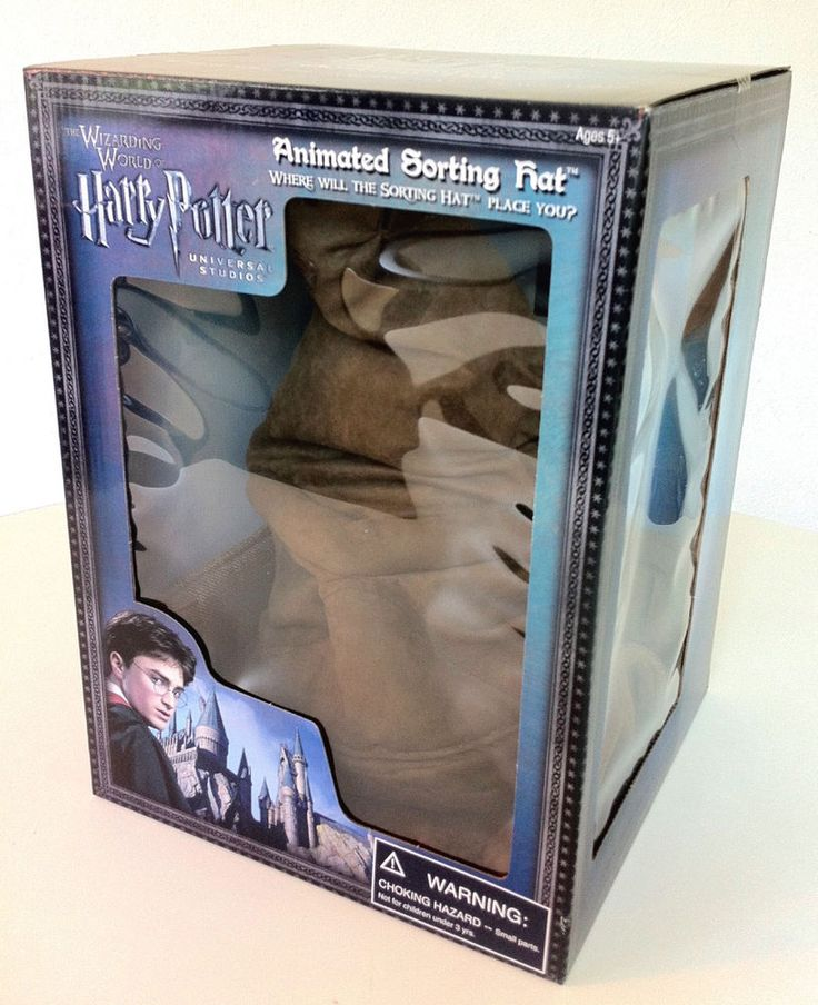 Wizarding World of Harry Potter TALKING & MOVING SORTING HAT Prop Replica Toy in Collectibles, Fantasy, Mythical & Magic, Harry Potter   eBay