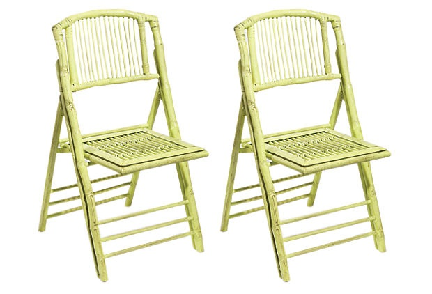 Green Anneliese Folding Chairs, Pair on OneKingsLane.com (purchased)