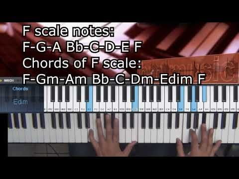 Chords Key Of F 5 Minutes Practice Piano Scale Chords Pinterest