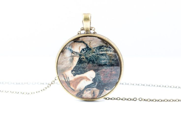 Lockets – Bull Necklace [Cave Art Collection] – a unique product by Art-Of-Nature on DaWanda