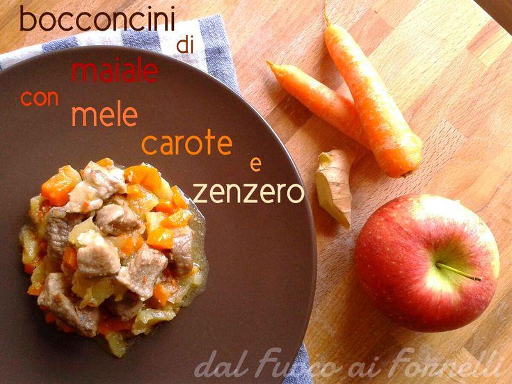 bocconcini di maiale con mele, carote e zenzero_ricetta secondo