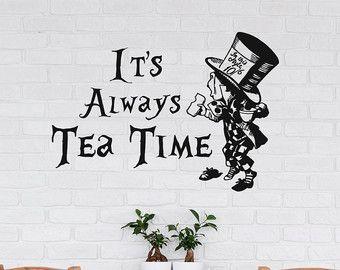 Wand Aufkleber Alice im Wunderland Cheshire Cat Zitat