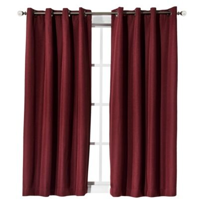 """Eclipse Fairfax Thermaweave Window Panel.  $29.99. Available in red, brown, grey, and tan . 52"""" by 95"""" largest of two sizes."""