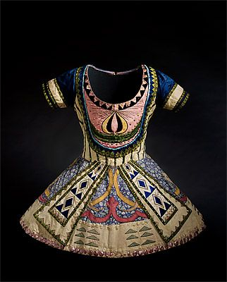 """Léon Bakst, Tunic from Costume for """"The Blue God"""", c. 1912 (from Le Dieu Bleu)."""