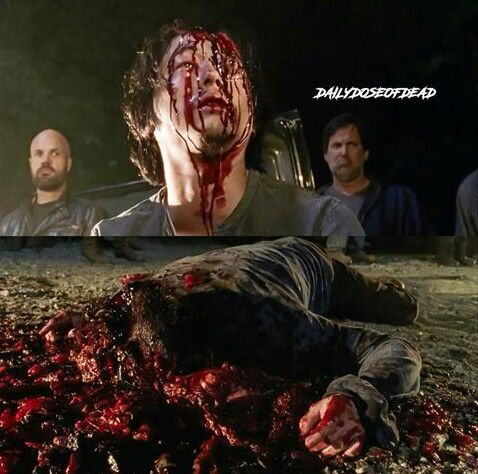 The Walking Dead Season 7 premier Glenn Rhee 10/23/16 I am absolutely devastated about Glenn's death it's not fair he didn't need to die!!!I'm going to miss him so much!!!
