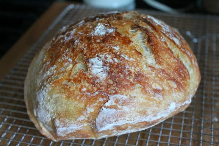"A perfect introduction to ""new"" Bread bakers.  4 ingredients, no kneading. Artisan bread."
