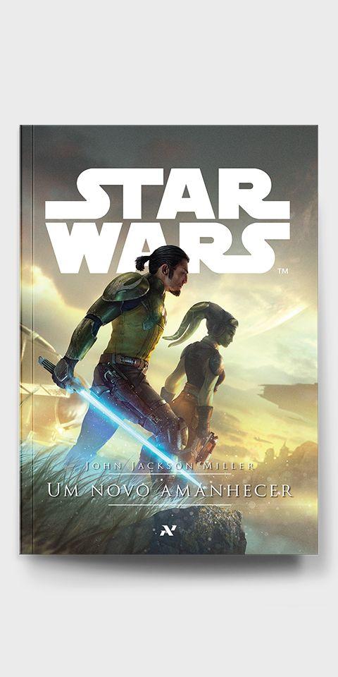 Primeiro livro da nova série cânone de Star Wars publicado no Brasil. capa do livro Um Novo Amanhecer pela editora Aleph