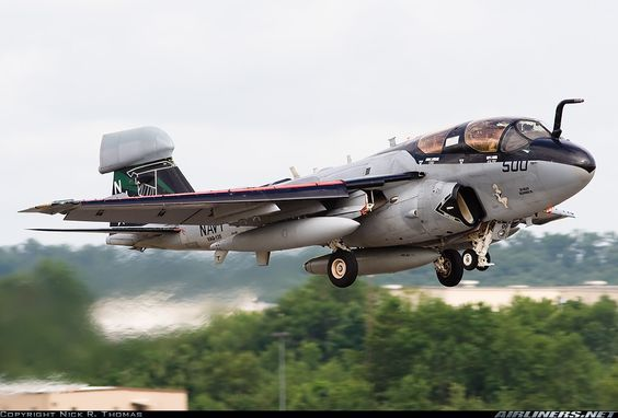 Northrop Grumman EA-6B Prowler Electronic-warfare aircraft  The Northrop Grumman EA-6B Prowler is a twin-engine, four-seat, mid-wing electronic warfare aircraft derived from the A-6 Intruder airframe.   Top speed: 1,048 km/h Range: 1,840 km Wingspan: 16 m Length: 18 m Unit cost: 52,000,000–52,000,000 USD Engine type: Pratt & Whitney J52 First flight: May 25, 1968