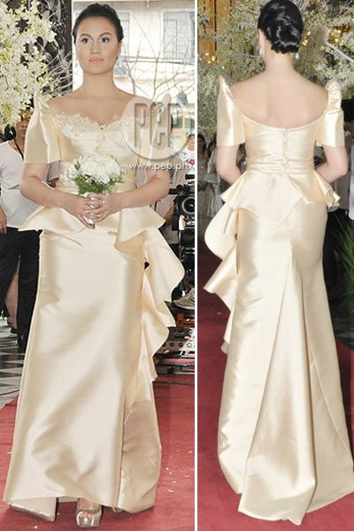 Modern Filipino Wedding Dresses : Images about custom made filippiniana gowns ladies
