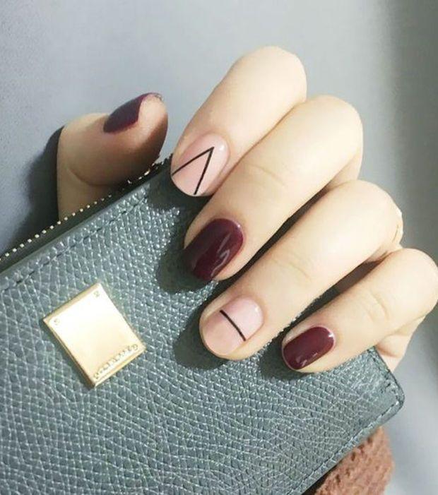 Manucures minimalistes : des formes géométriques – #des #formes #geometriques …