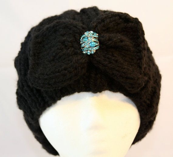 one of a kind wool hat with brooch by WoollyLoveHome on Etsy