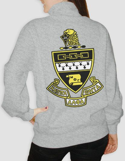 Kappa Alpha Theta - Crest Half Zip is now available! $34 until 12/19/14 so hurry up and order!