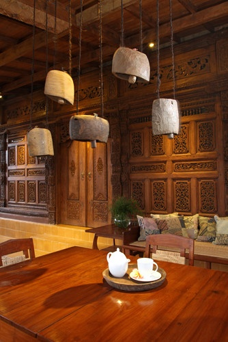 Javanese Reclaimed Wooden House - asian - porch - other metro - Iwan Sastrawiguna Interior Design
