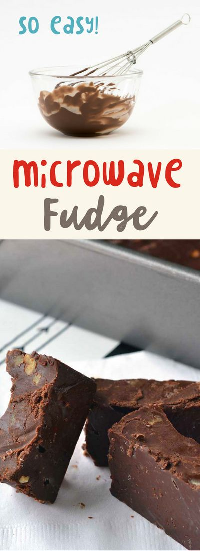 this microwave fudge recipe is so easy and tasty!…