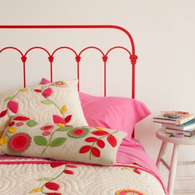 Red Wrought Iron Headboard Decal...too cute