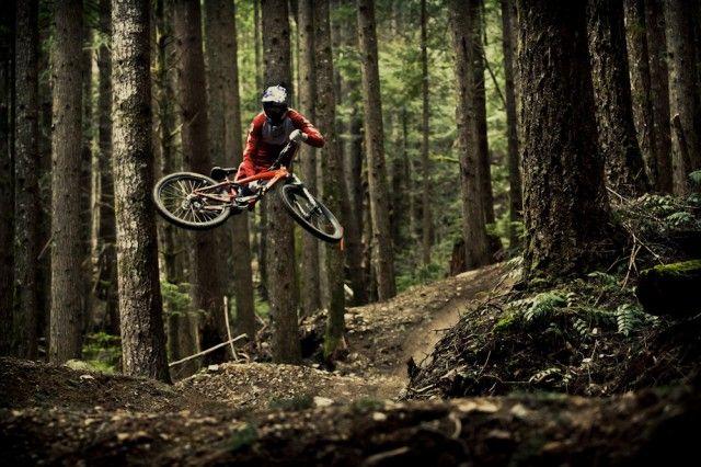 Brandon Semenuk tailwhip in forest