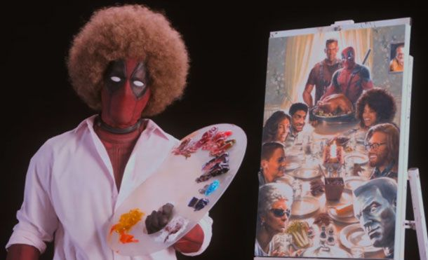 The Merc With The Mouth Lampoons Bob Ross In New Deadpool 2 Trailer