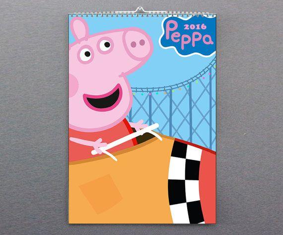 Photo calendar 2016Peppa Pig Tv show от 3Hstore на Etsy