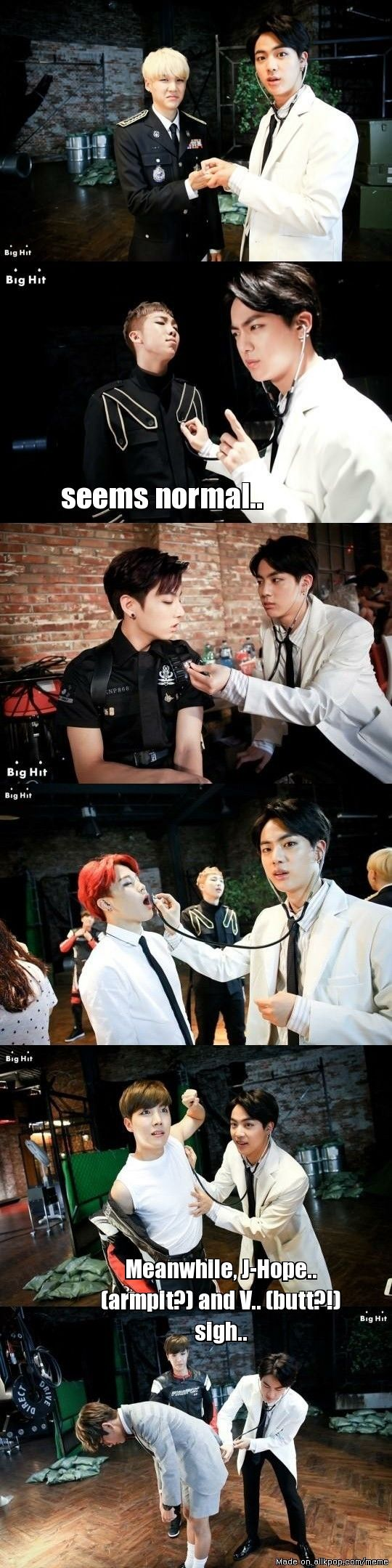 Jin The Doctor in action | allkpop Meme Center