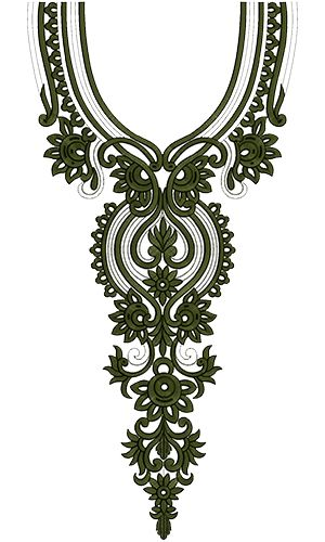Neck Embroidery Design 12551