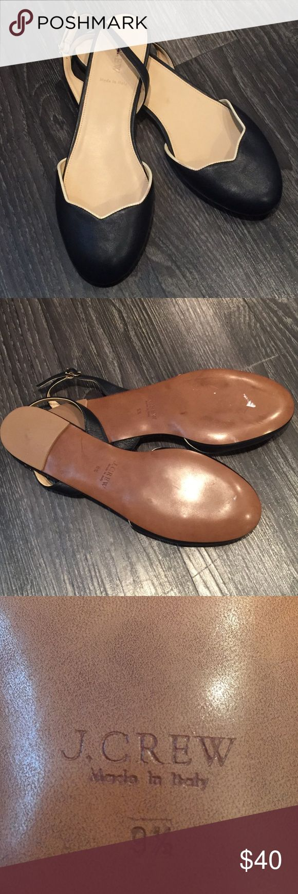 JCrew Navy Flats 9.5 Navy blue with white trim NEW J. Crew Shoes Flats & Loafers