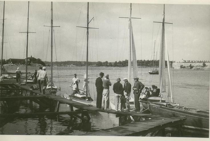 Typical recreational sailing boats in Iso Pässi circa 1930–1950