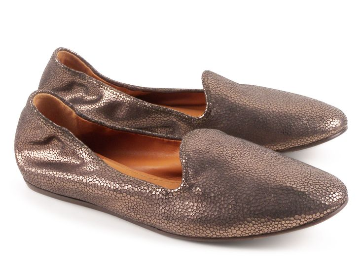 Lanvin silver Lambskin leather flats ballerina shoes - Italian Boutique €225