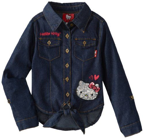 Hello Kitty Girls 2-6X Chambray Shirt $8.50 #topseller
