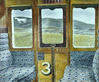 """Eric Ravilious, """"Train Landscape"""" (1939)"""